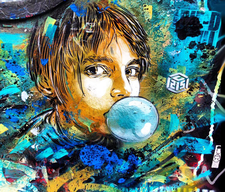 Bubble gum child by C215
