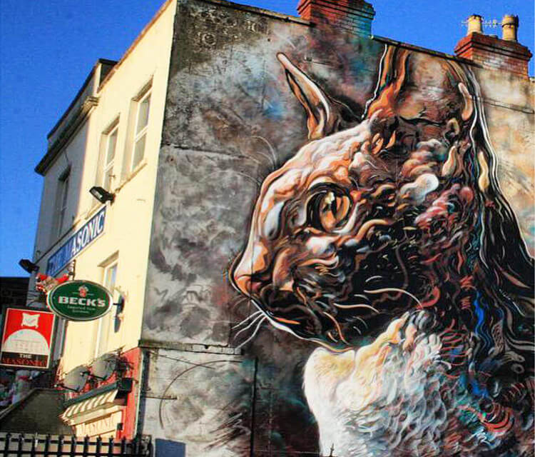 Caturday streetart by C215