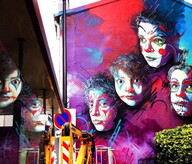 Streetart in Paris by C215