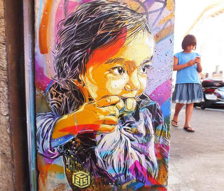 Child portrait by C215
