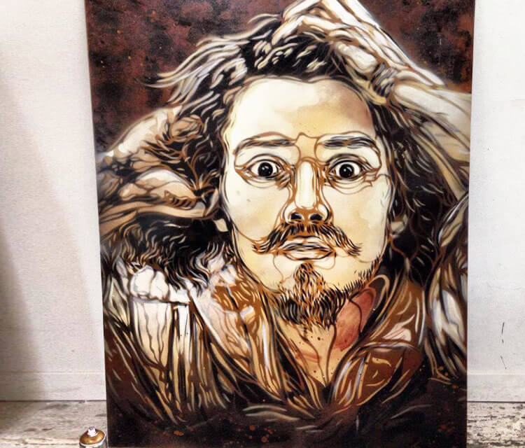 Portrait Gustave Courbet by C215