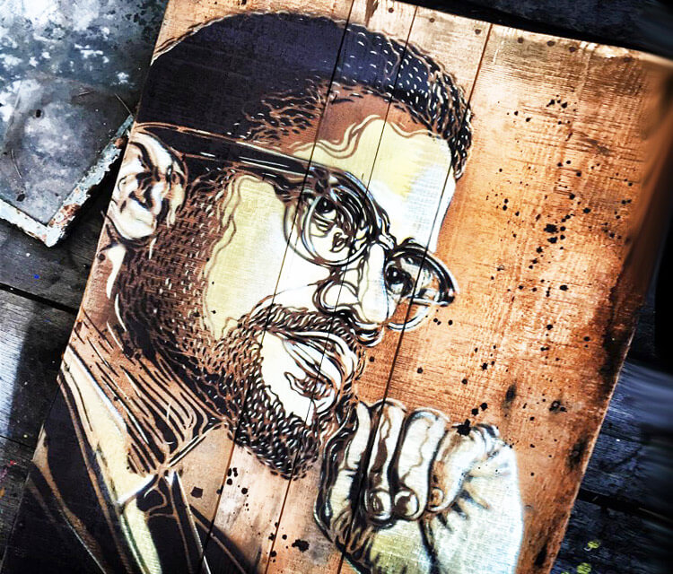 Logan Hicks 3 painting by C215