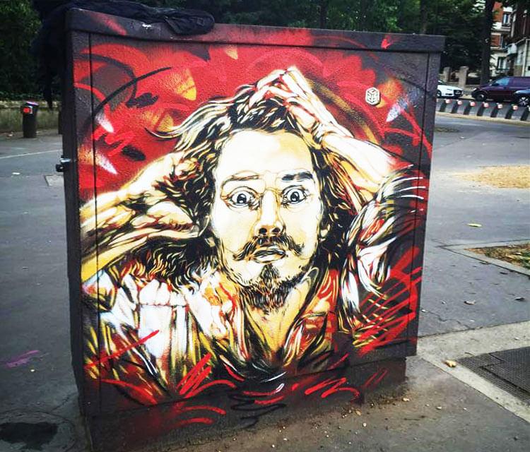 Porte De Vitry streetart by C215