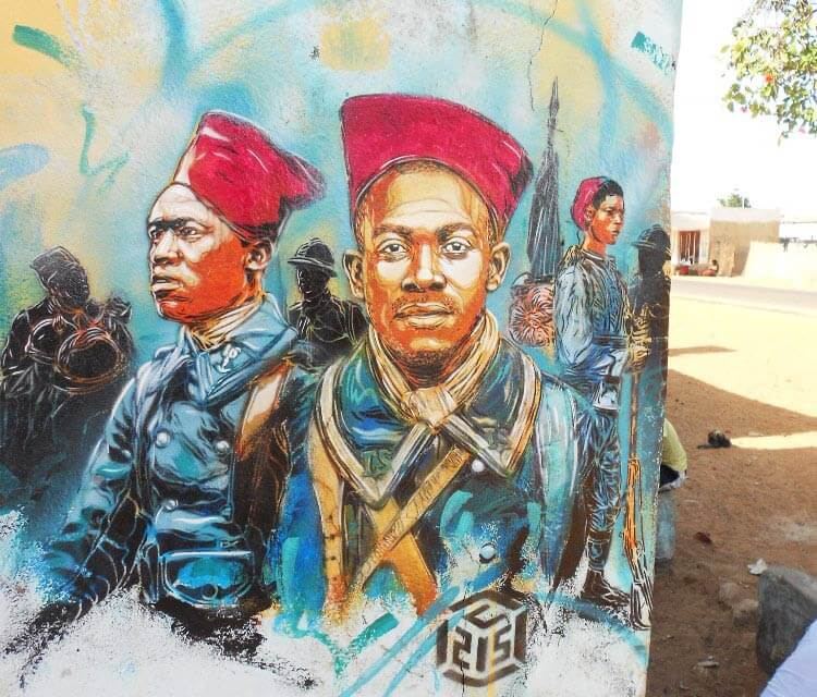 Senegal soldiers by C215