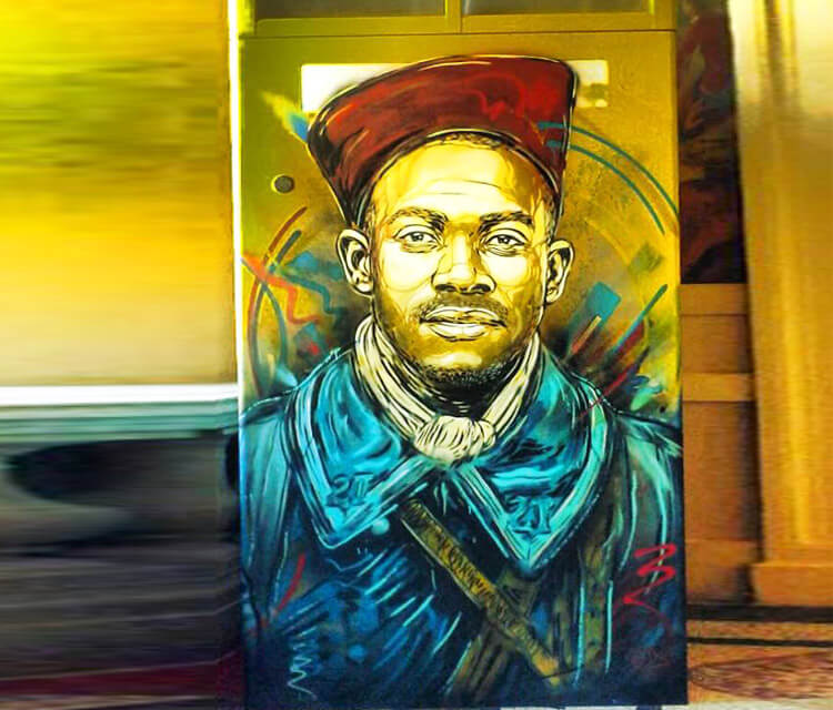 Senegal soldier by C215