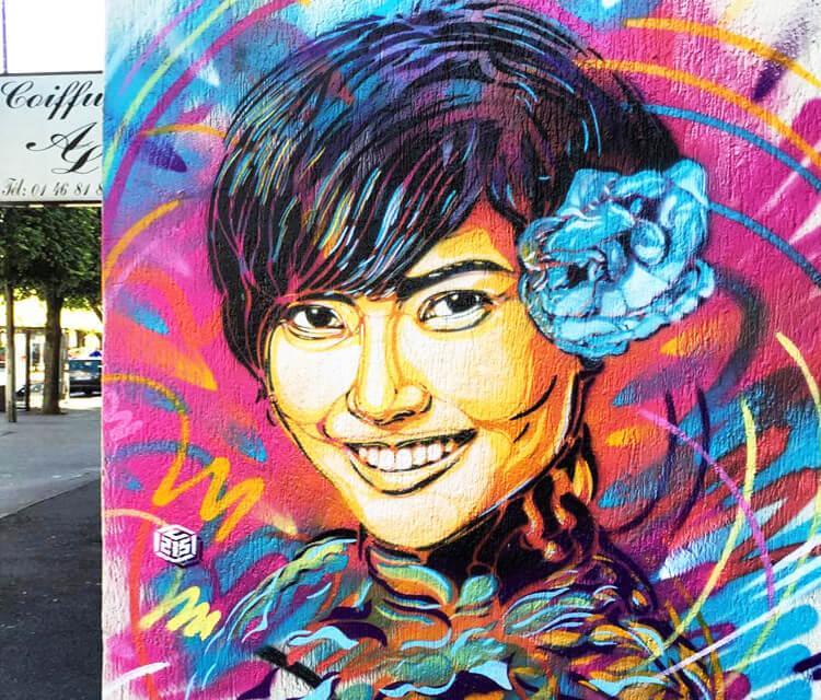 Vitry 2 streetart by C215