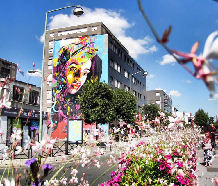 Vitry sur Seine streetart by C215