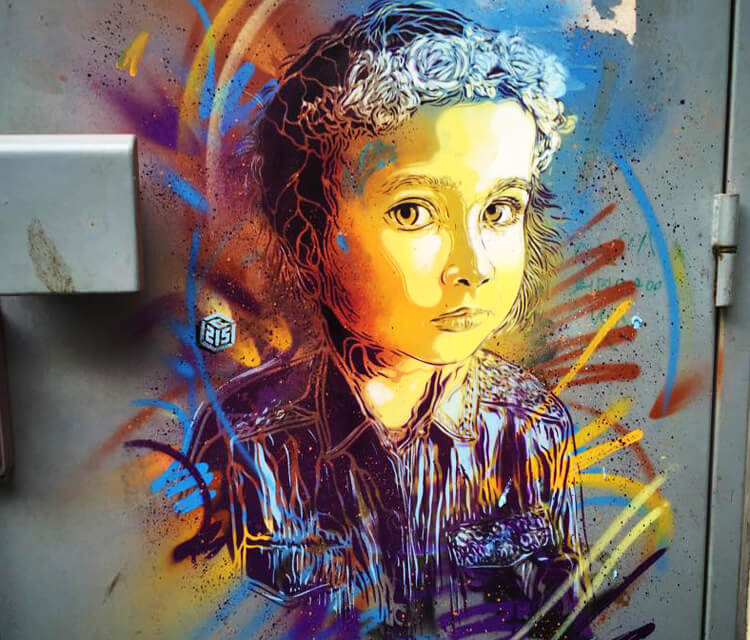 Vitry sur Seine 2 stencil by C215