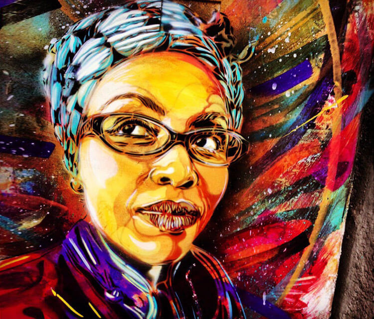 Woman abstract portrait by C215
