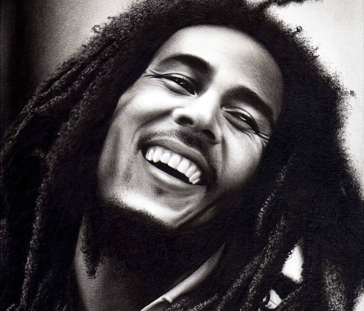 Bob Marley drawing by Charles Laveso