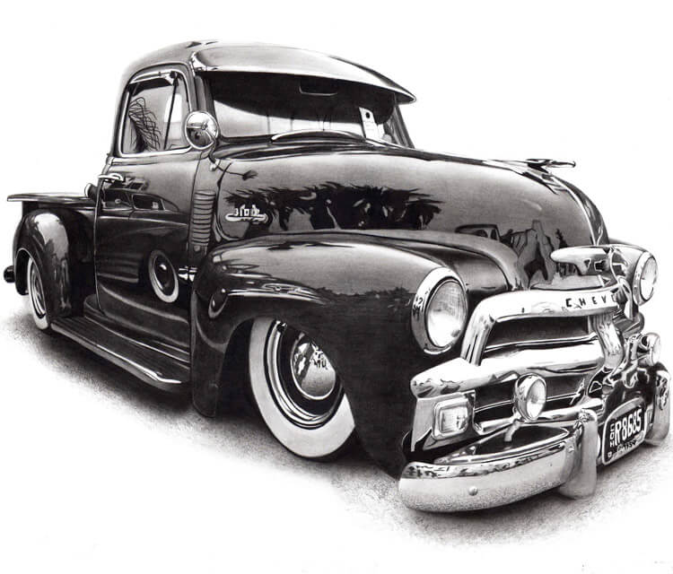 Car drawing by Charles Laveso