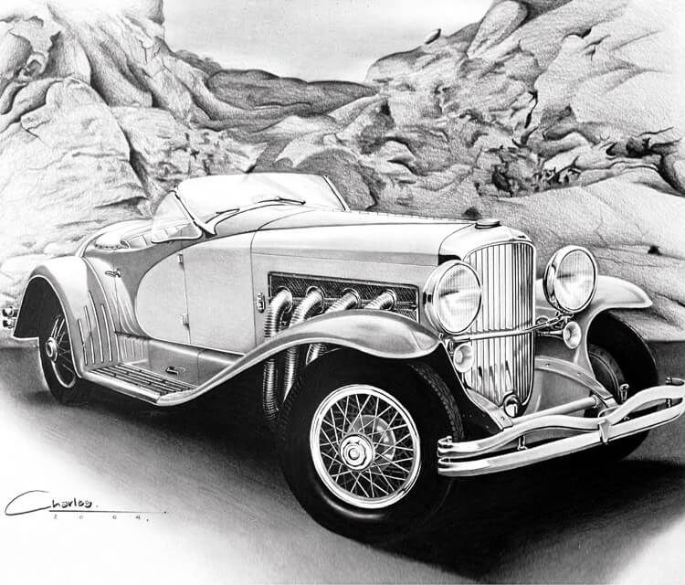 Car 2 drawing by Charles Laveso