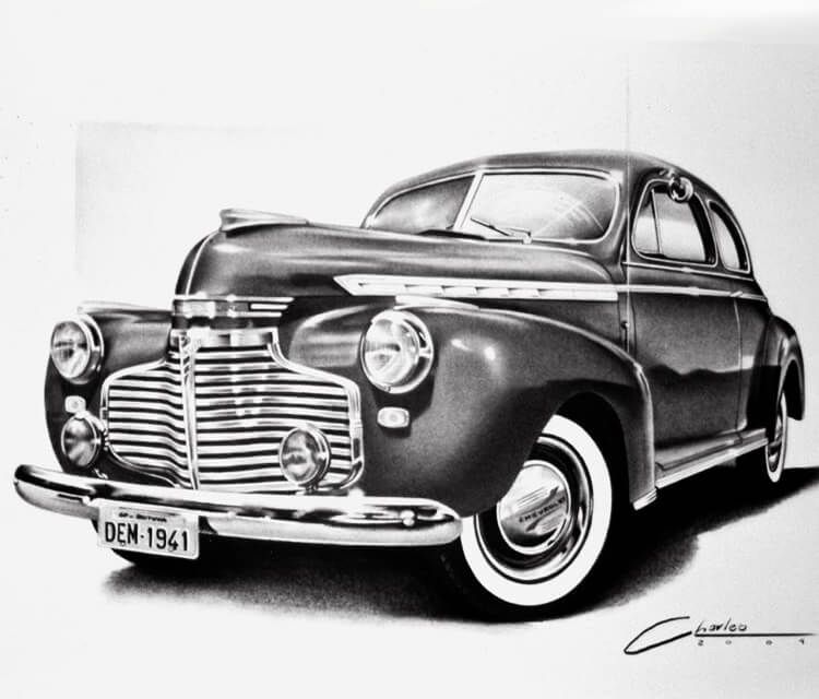 Car 3 drawing by Charles Laveso