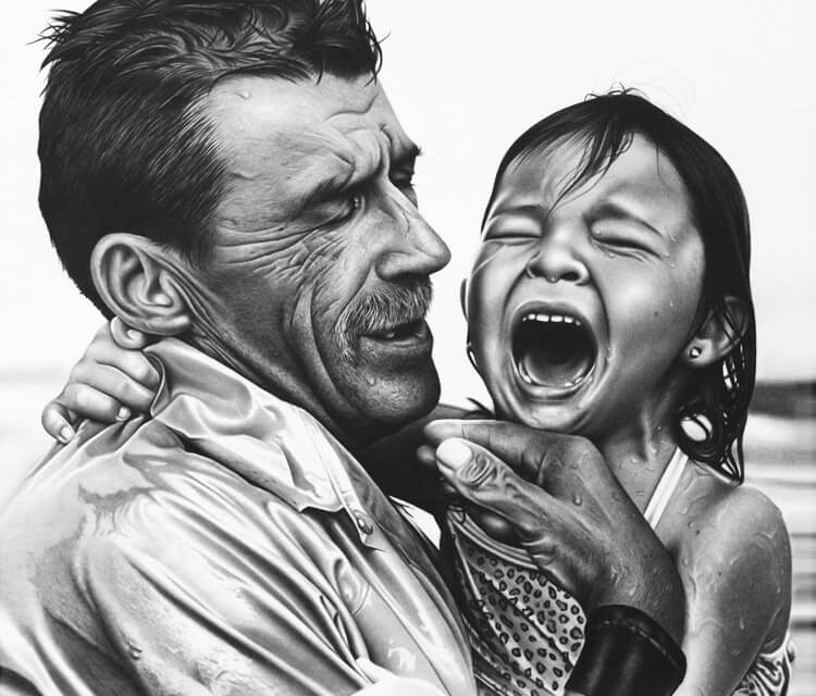 Child Crying drawing by Charles Laveso
