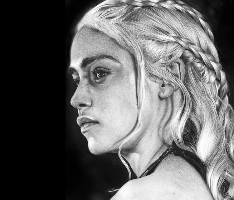 Daenerys Targaryen drawing by Charles Laveso