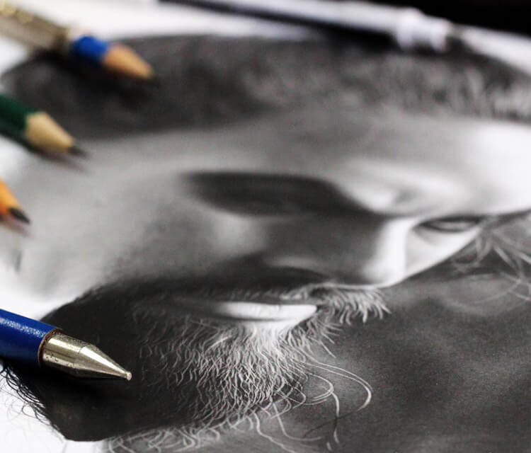 Drogo detail drawing by Charles Laveso
