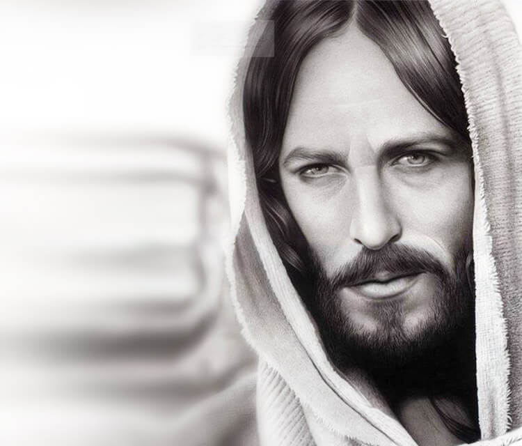 Jesus portrait drawing by Charles Laveso
