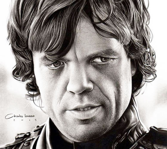 Tyrion Lannister drawing by Charles Laveso
