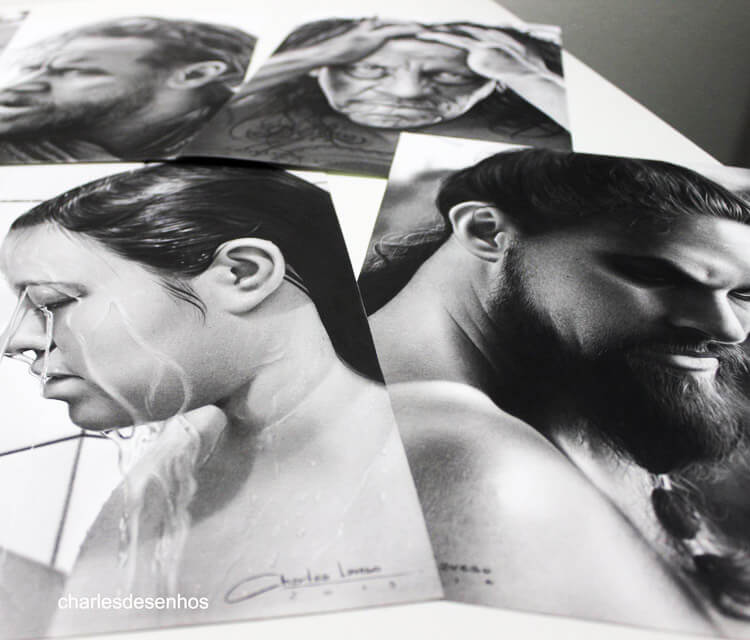 Works on paper drawing by Charles Laveso