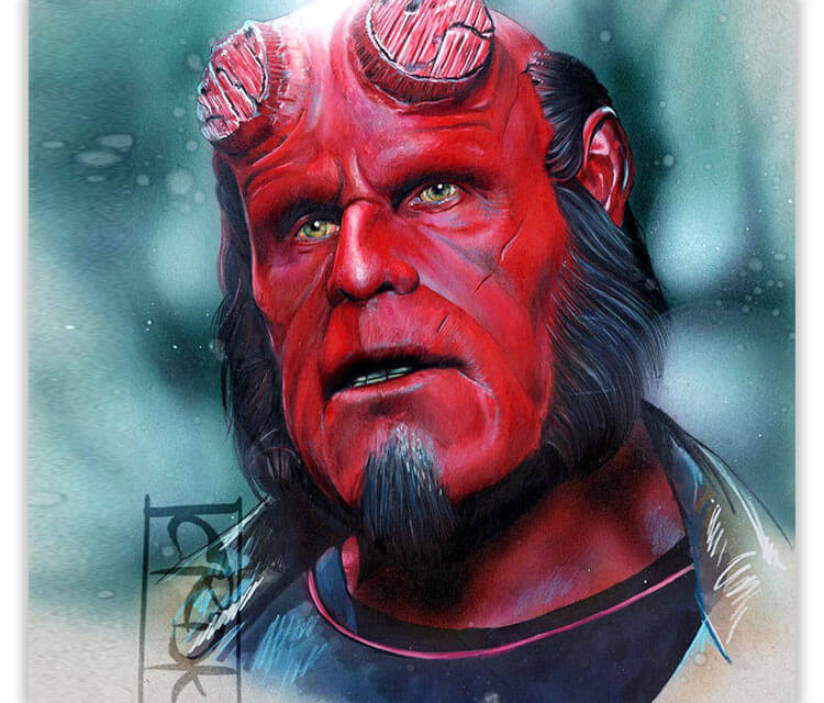 Hellboy color drawing by Craig Deakes