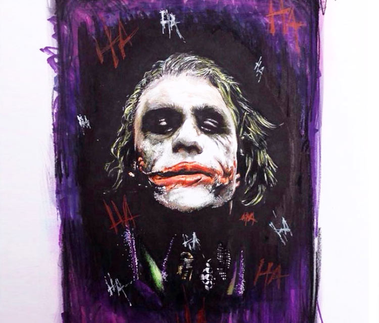 Joker painting by Craig Deakes