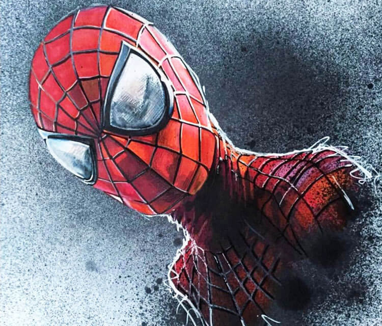 Spiderman drawing by Craig Deakes