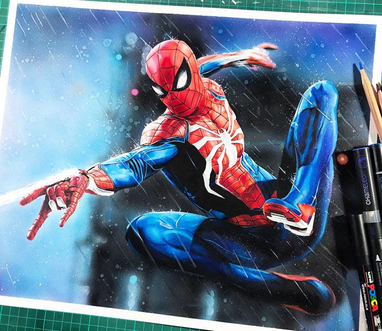 Spiderman drawing by Craig Deakes