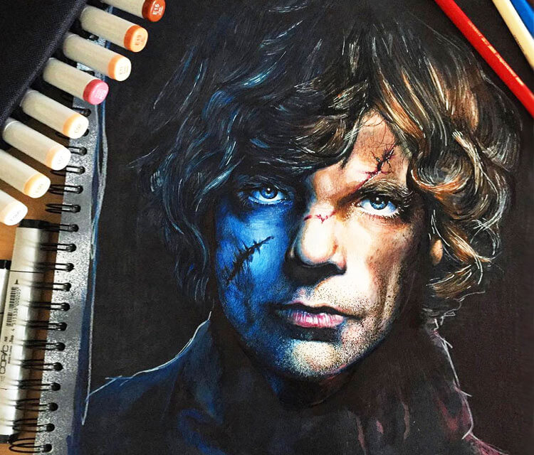 Tyrion Lannister drawing by Craig Deakes
