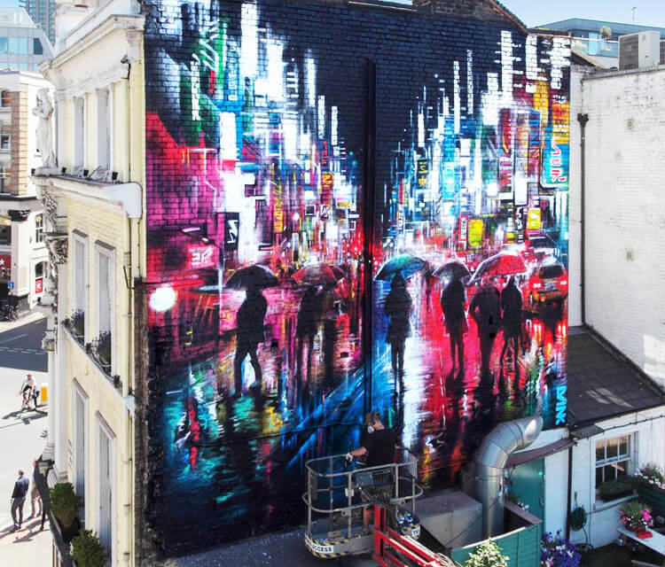At work streetart by Dan DANK Kitchener