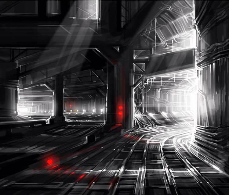 Catacombs digitalart by Dan DANK Kitchener