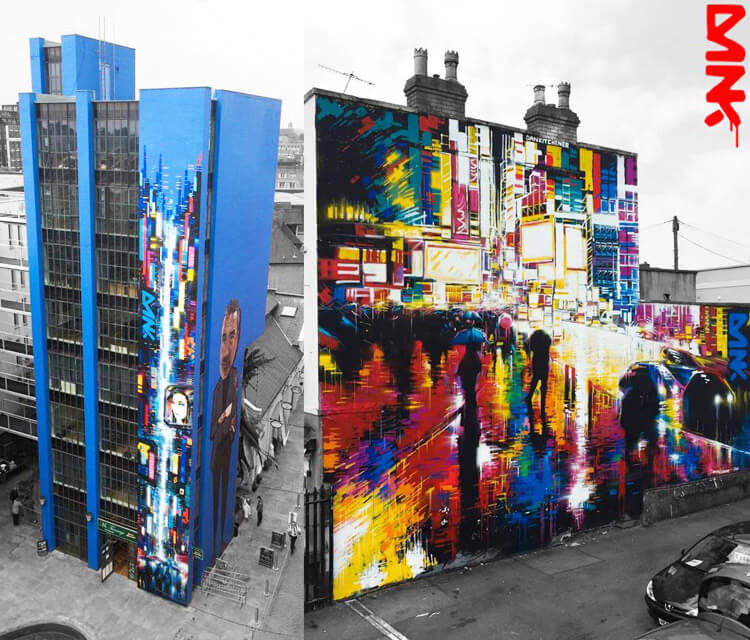 Cities of colours streetart by Dan DANK Kitchener