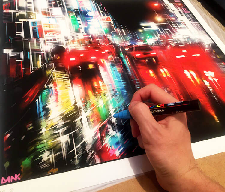 City at work marker drawing by Dan DANK Kitchener