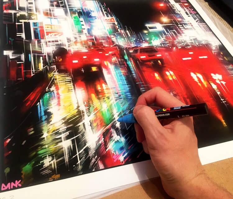 City at work marker drawing by Dan DANK Kitchener
