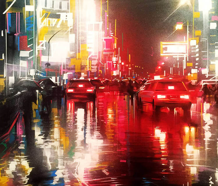 City streets mixedmedia by Dan DANK Kitchener