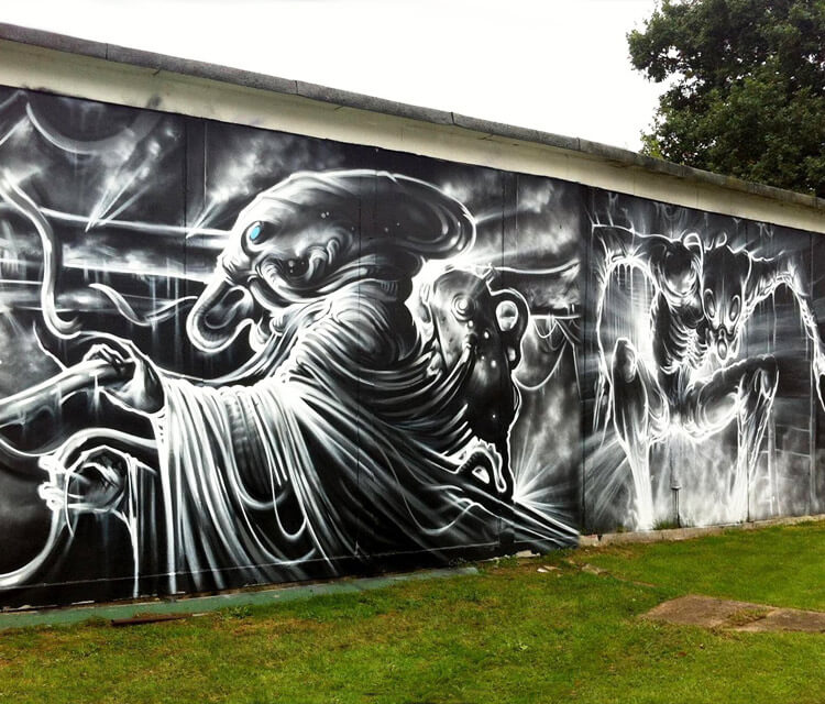 Creature streetart by Dan DANK Kitchener