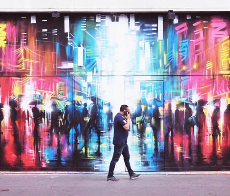 Croydon with Rise Gallery streetart by Dan DANK Kitchener