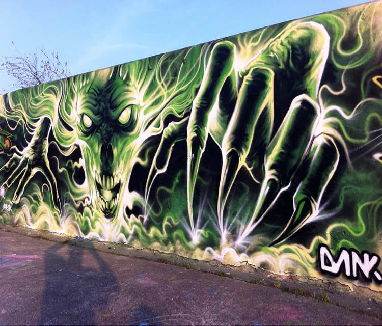 Dark Creature streetart by Dan DANK Kitchener