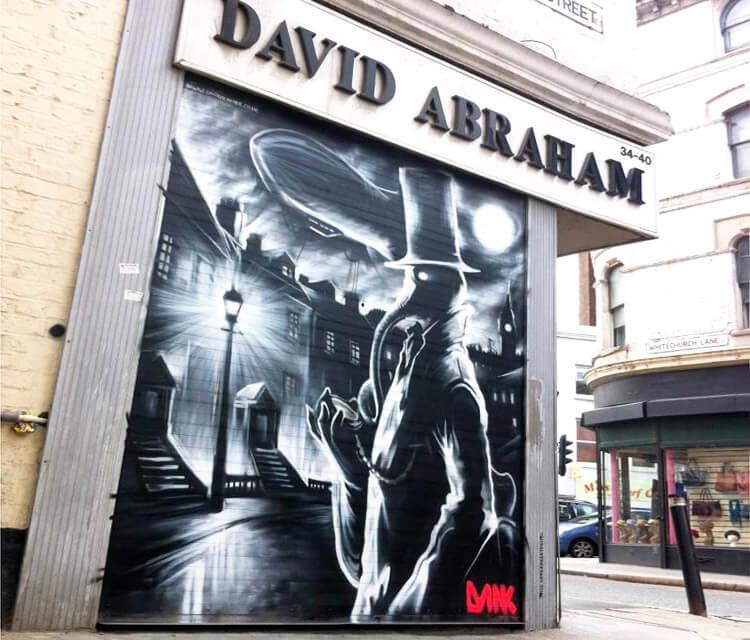 David Abraham streetart by Dan DANK Kitchener