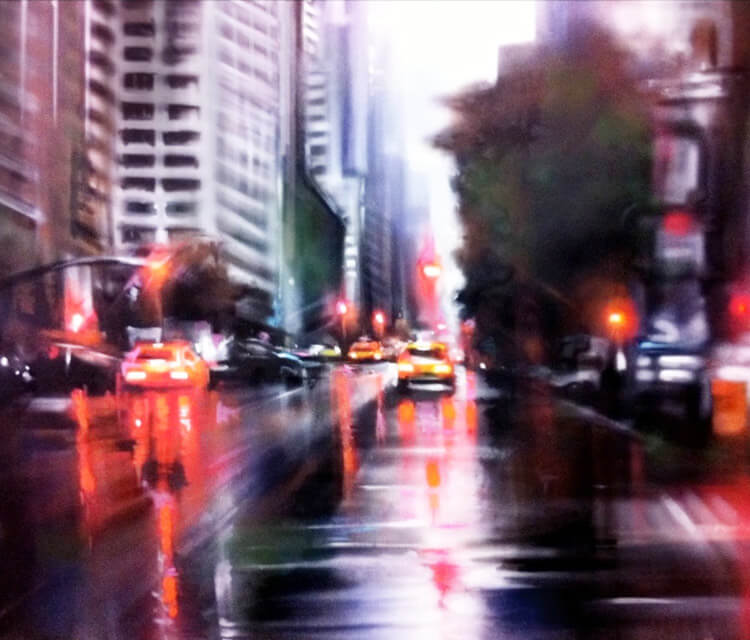 Downtown Manhatan mixedmedia by Dan DANK Kitchener