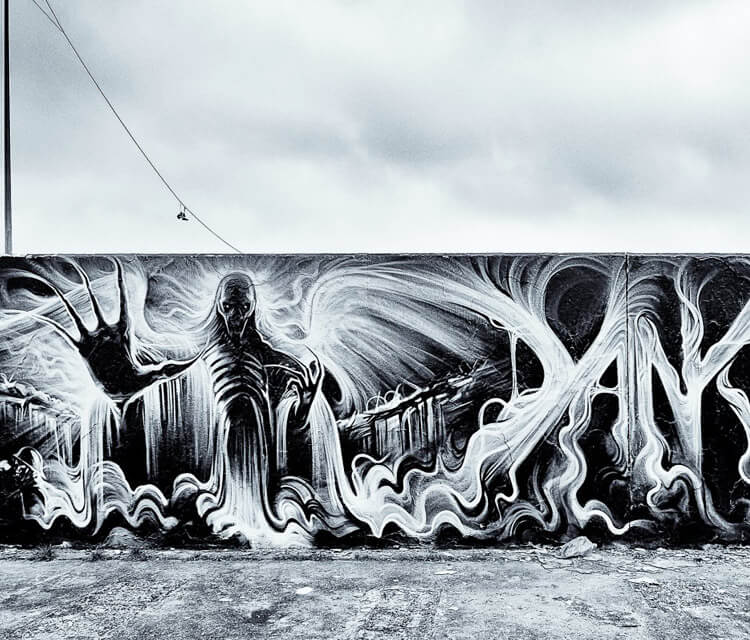 Gas space streetart by Dan DANK Kitchener