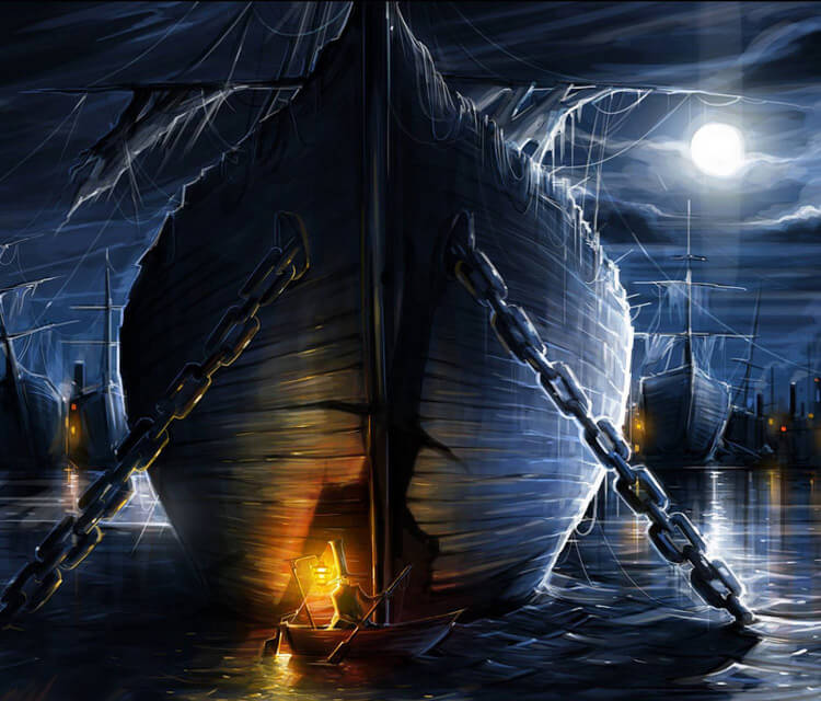 Ghost ships digitalart by Dan DANK Kitchener
