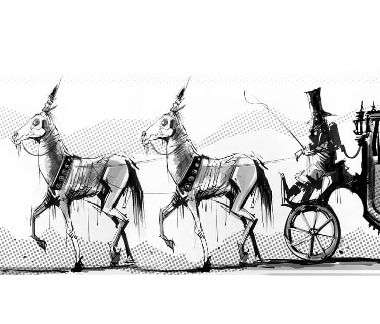 Gun carriage marker drawing by Dan DANK Kitchener