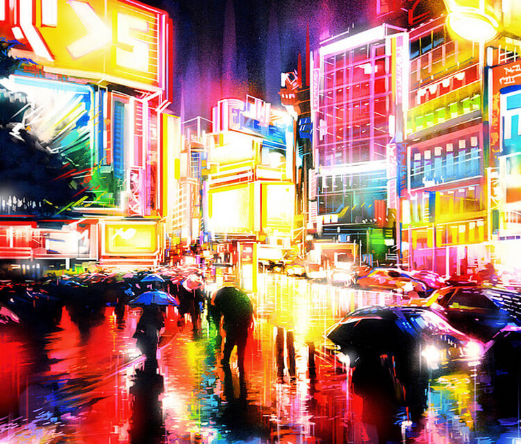 Liquid Lights mixedmedia by Dan DANK Kitchener