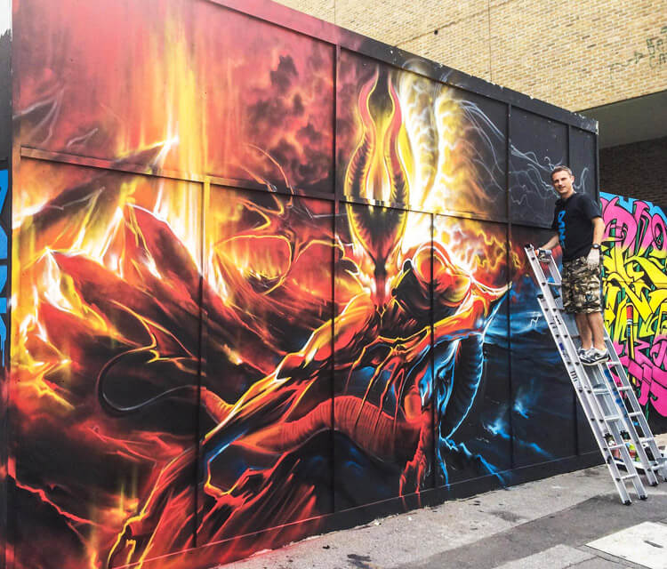 Meet of Styles streetart by Dan DANK Kitchener