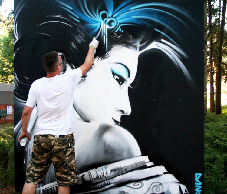My geisha streetart by Dan DANK Kitchener
