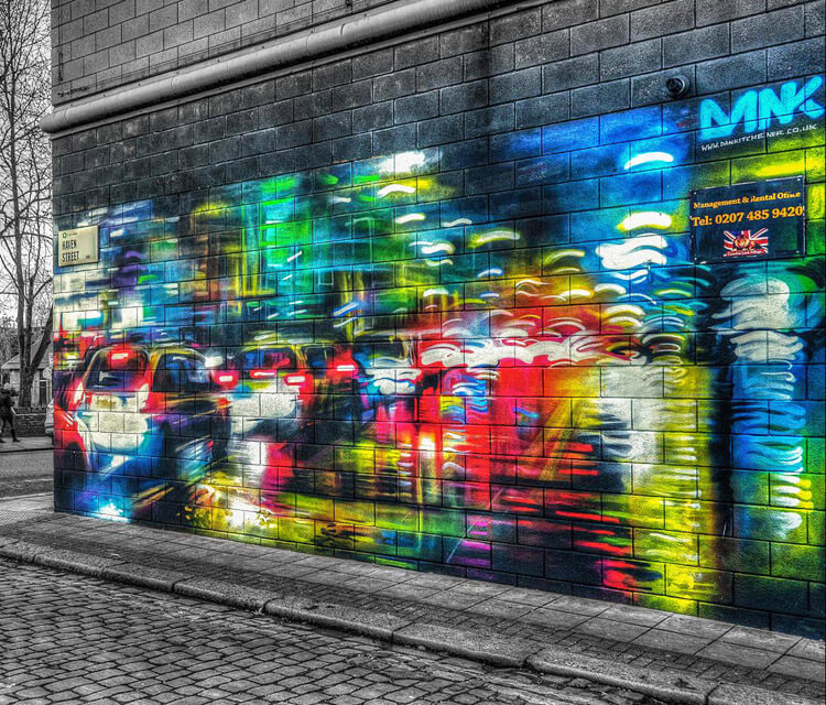 Neon streets streetart by Dan DANK Kitchener