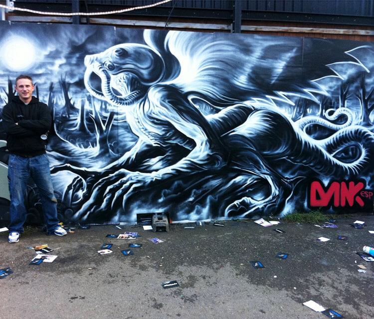 Night Moths streetart by Dan DANK Kitchener
