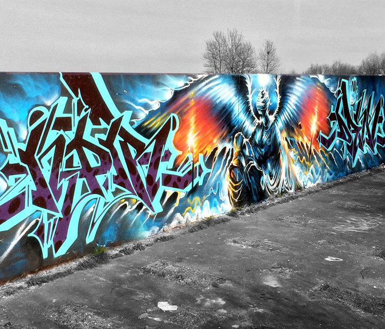 Spirit of Slaughter graffiti by Dan DANK Kitchener