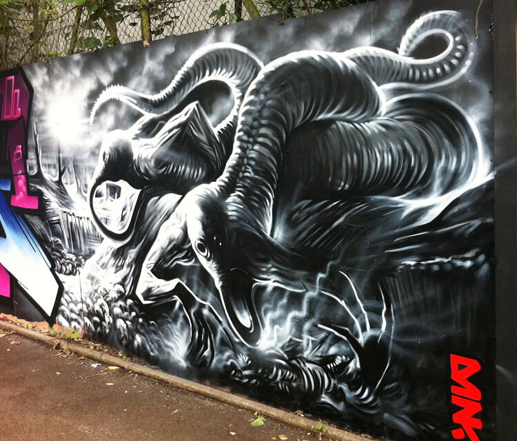 Splash Art Jan streetart by Dan DANK Kitchener
