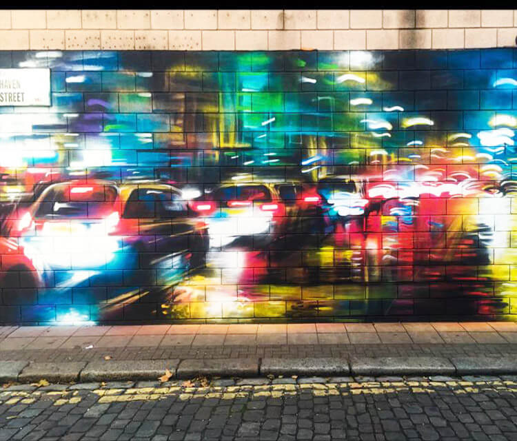 Still life streetart by Dan DANK Kitchener